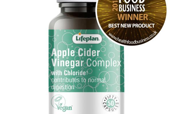 Lifeplans Apple Cider Vinegar Complex voted Best New Product at the Health Food Business Awards!