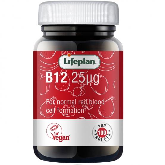Vitamin B12 25mcg x 100 Tablets