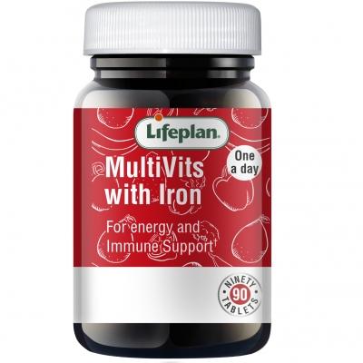 Multivitamins & Iron x 90 Tablets