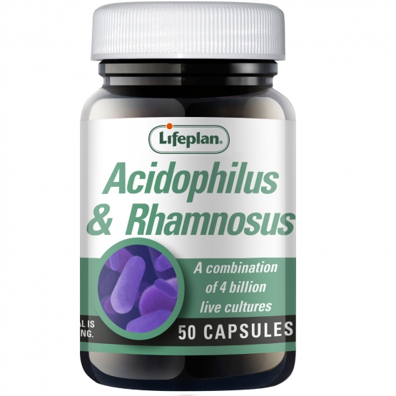Acidophilus & Rhamnosus Supplements x 50 Capsules