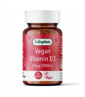 Vegan Vitamin D3, 2000iu, 30's