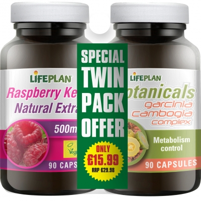 Garcinia Cambogia and Raspberry Ketone twinpack (export only)