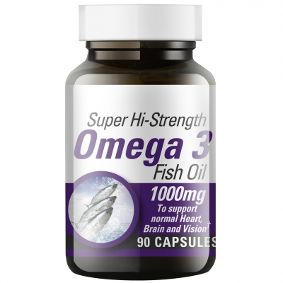 Super Hi-Strength Omega 3 Fish Oil 1000mg x 90