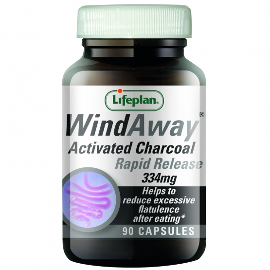 WindAway Activated Charcoal 334mg 90's