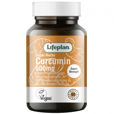 Lifeplan Super Herbs Curcumin Supplement 500mg x 60 Capsules