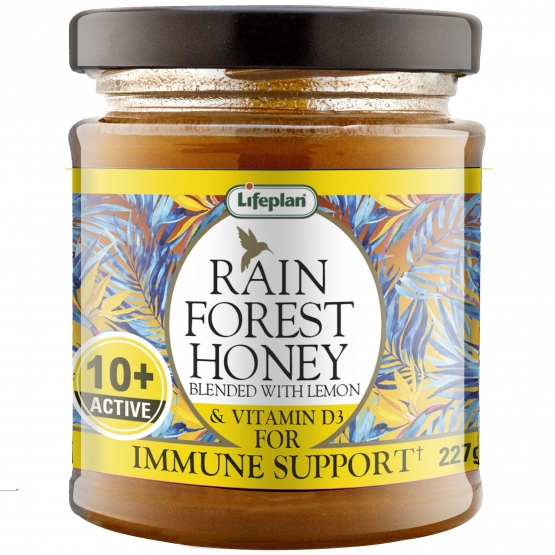 Rainforest Honey Active 10+ With Lemon and D3 227g