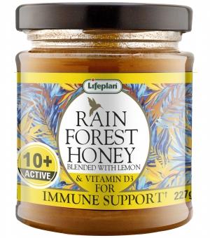 Rainforest Honey Active 10+ With Lemon and D3 227g