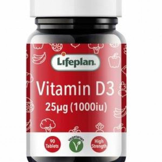 Vitamin D 1000IU x 90 Tablets