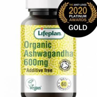 Lifeplan Organic Ashwagandha 60s Soil Association GB-ORG-05