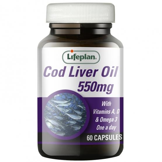 Cod Liver Oil 550mg 60s