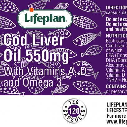 Cod Liver Oil 550mg 120