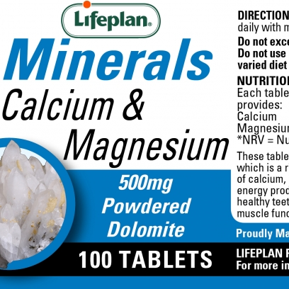 Calcium & Magnesium 500mg 100's Tablets