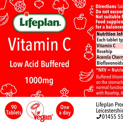 Buffered Vitamin C 1000mg x 90 Tablets