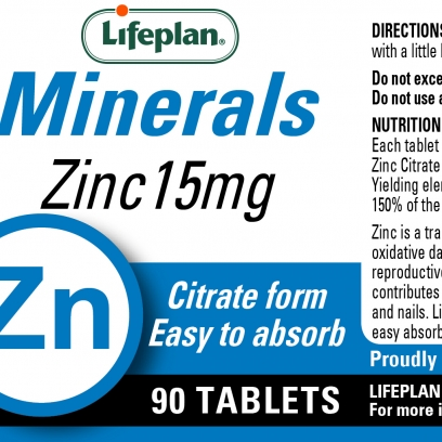 Zinc Citrate 15mg x 90 Tablets