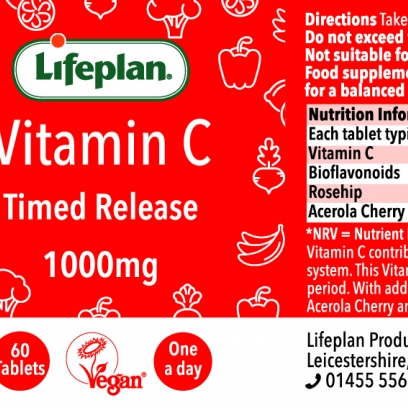 Vitamin C Timed Release 1000mg x 60 Tablets