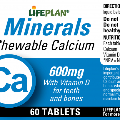 Chewable Calcium 600mg x 60