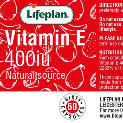 Vitamin E 400iu x 60 Capsules